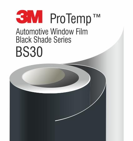 3M Black Series ProTemp Automotive Window Film - Black Shade Series - неметализирано, слънцезащитно фолио за автомобилни стъкла