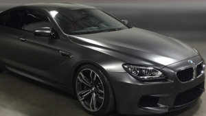 BMW M6 Satin Dark Grey Wrap