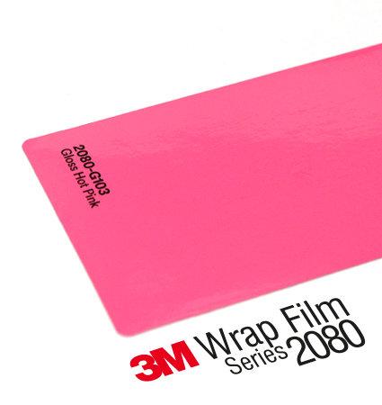 3M 2080 Wrap Film Series G103 Hot Pink - наситено розово, гланц