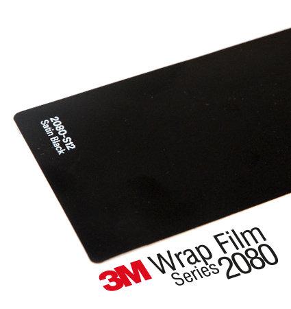 3M 2080-S12 Satin Black - черен сатен
