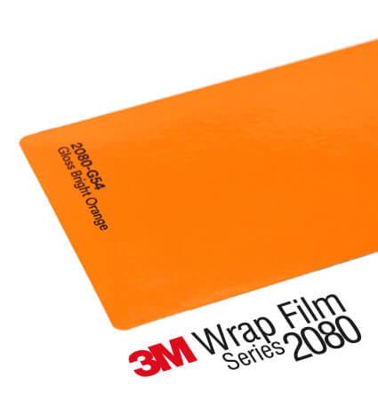 3M 2080 Wrap Film Series G54 - Наситено оранжево, гланц