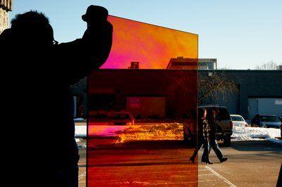 3M DICHROIC Glass Finishes DF Blaze - декоративно фолио за стъкла с топли цветове