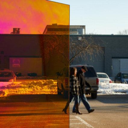3M DICHROIC декоративно фолио за стъкла, студени нюанси