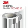 3M Scotchcal Mirror Silver Film 7755-430 SE - сребърно огледално фолио
