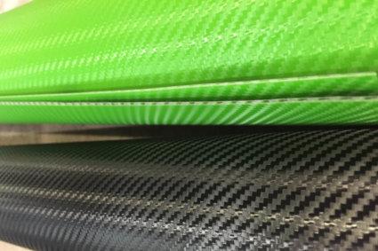 3M Wrap Overlaminate 8900 - Прозрачен карбон, ламинат облепен върху зелено фолио от серия 3M 2080