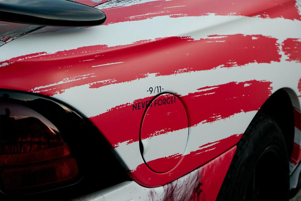 Облепяне с фолио 3M IJ180 за американската икона Мустанг